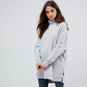 Free People Gray So Plush Oversized Sweatshirt